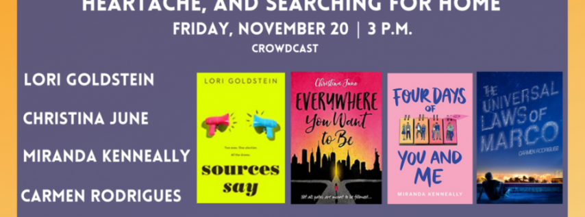 Fall for the Book presents It's About to Get Real: High School, Heartache, and S