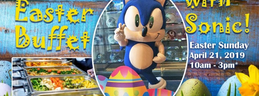 Easter Buffet with Sonic at GameTime!