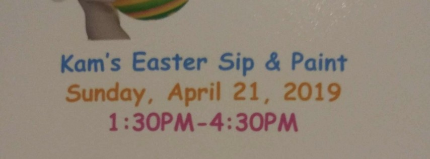Kam's Easter Sip & Paint