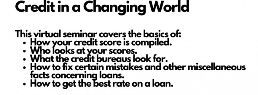 Understanding Credit - Your Score in a Changing World
