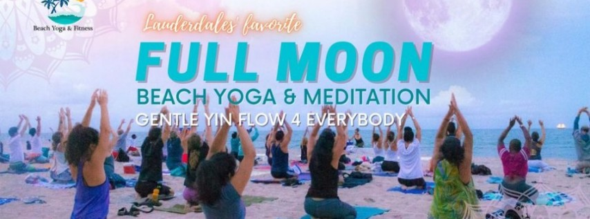 Full Moon Beach Yoga Ft Lauderdale Beach