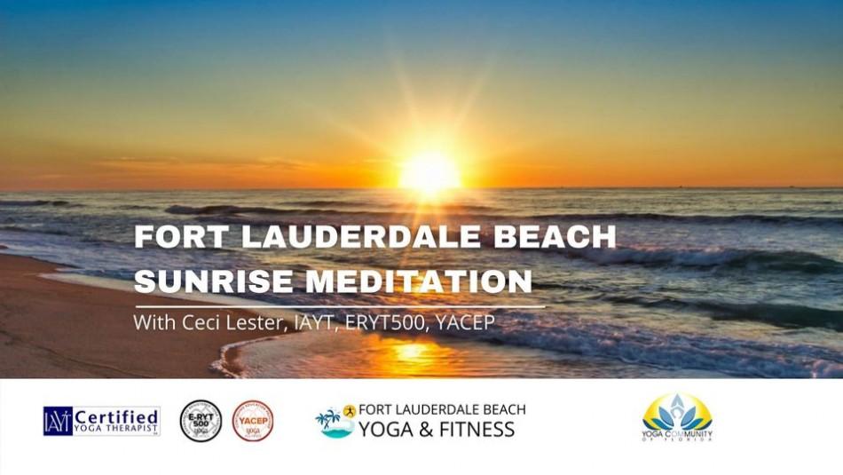 Sunrise Meditation on Ft Lauderdale Beach
