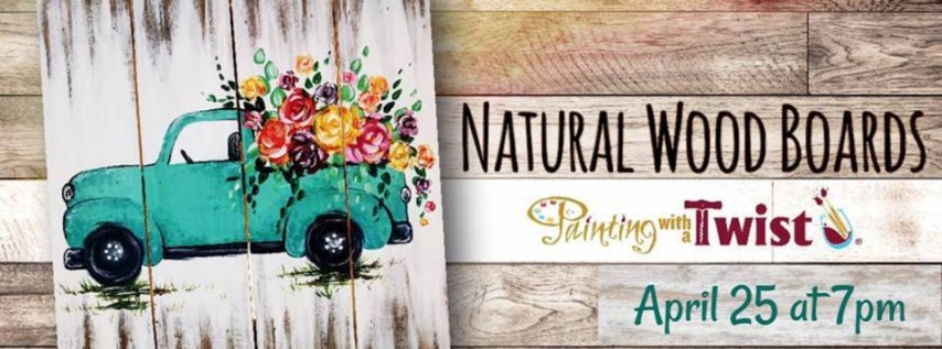NEW! Rustic Spring Truck Real Wood Board