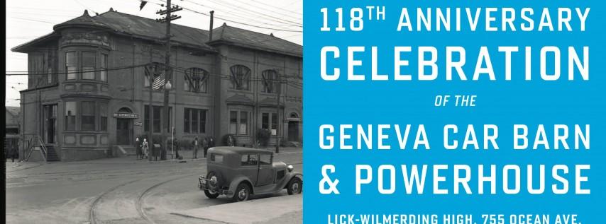 Geneva Car Barn & Powerhouse 118th Anniversary Party