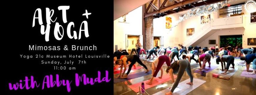 Artasana at 21c Museum Hotel with Abby Mudd: Yoga + Art + Brunch + Mimosas