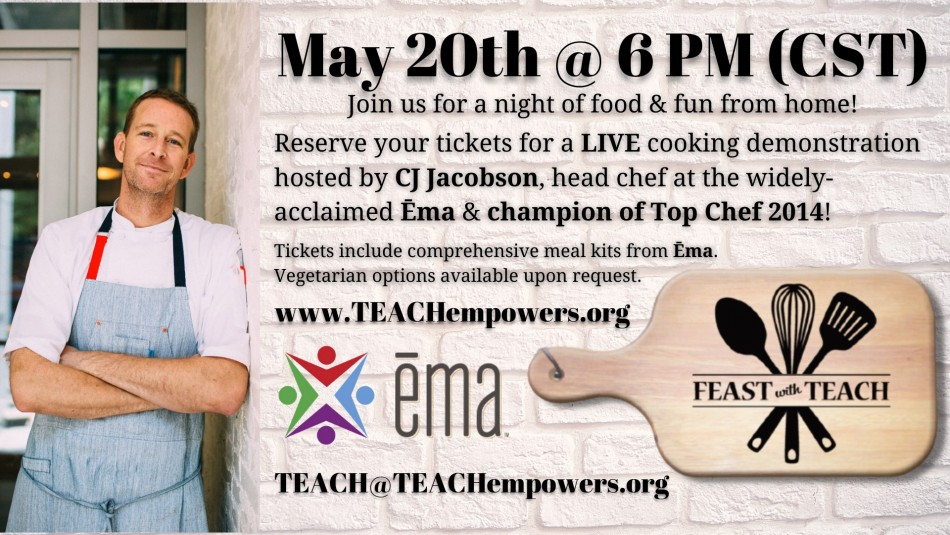 TEACH Hosts Annual Benefit Virtually Featuring Cooking Demonstration