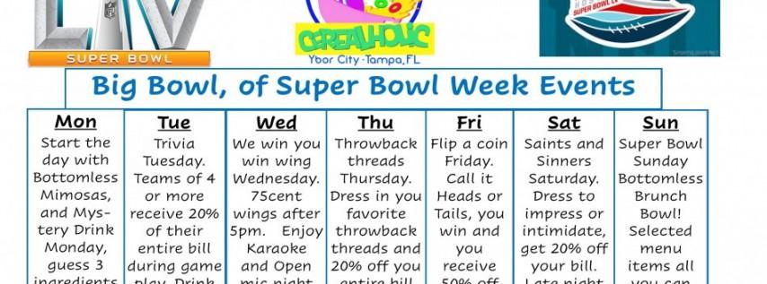 Cerealholic Big Bowl of Super Bowl week Events