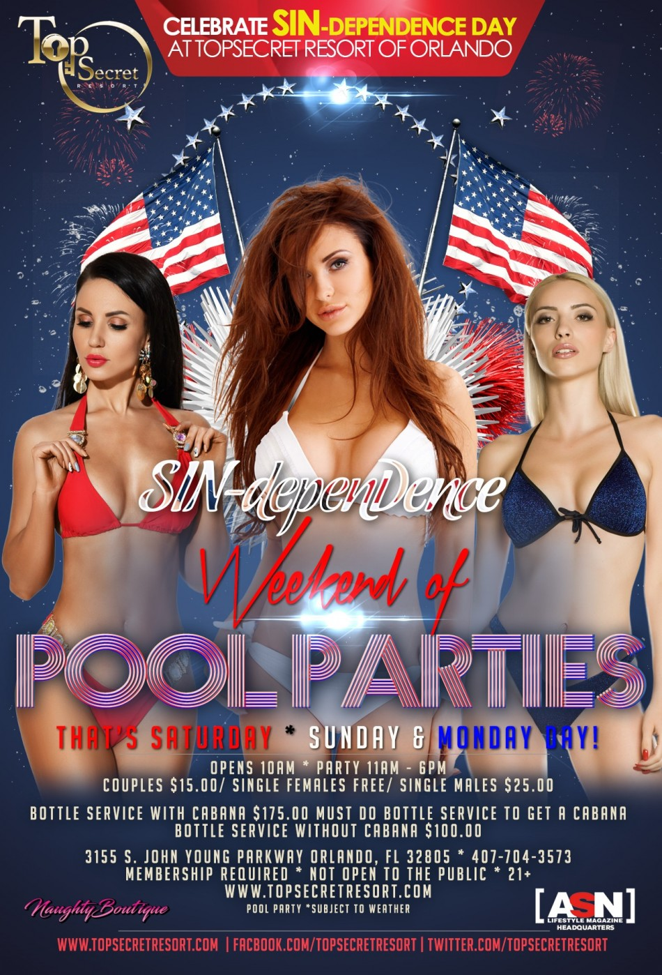 SIN-Dependence Weekend - Monday Pool Party