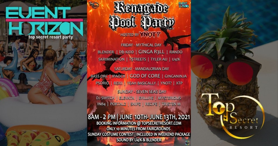 """Event Horizon - """"Unofficial"""" Forbidden Kingdom After Party: Renegade Pool Party"""