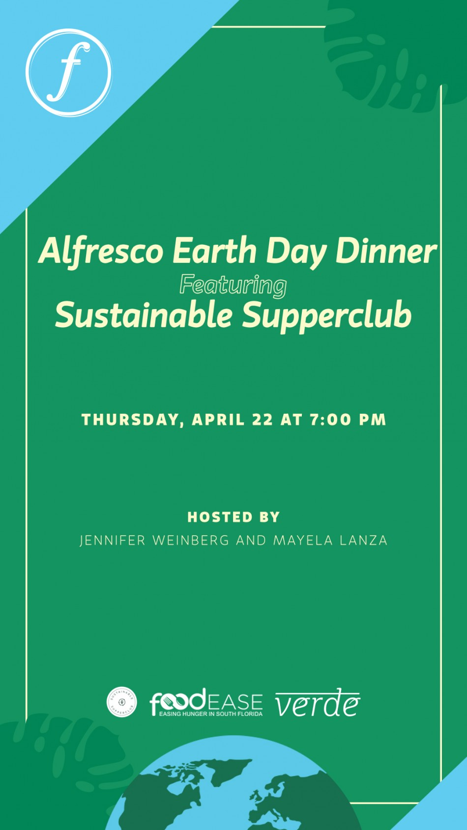 Alfresco Earth Day Dinner Featuring Sustainable Supperclub
