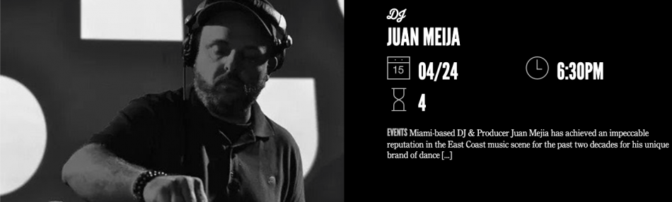 DJ Juan Meija at Time Out Market Miami
