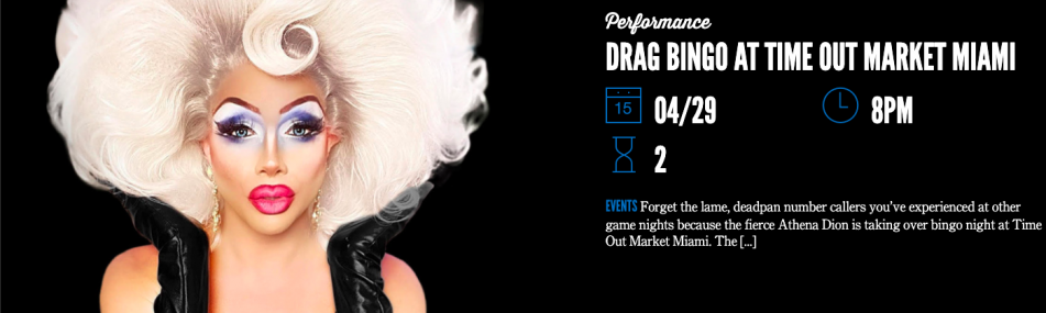 Drag Bingo + DJ Mike Trotter at Time Out Market Miami