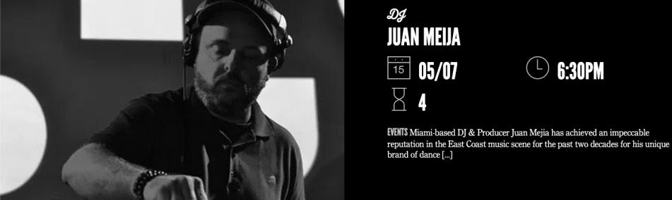 DJ Juan Meija at Time Out Market Miami