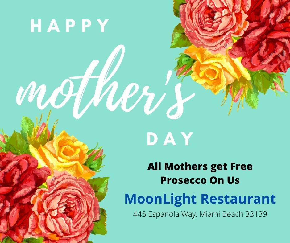 Free Prosecco for Mothers at MoonLight Restaurant