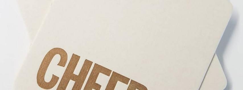 Paper & Pints: Letterpress Coasters