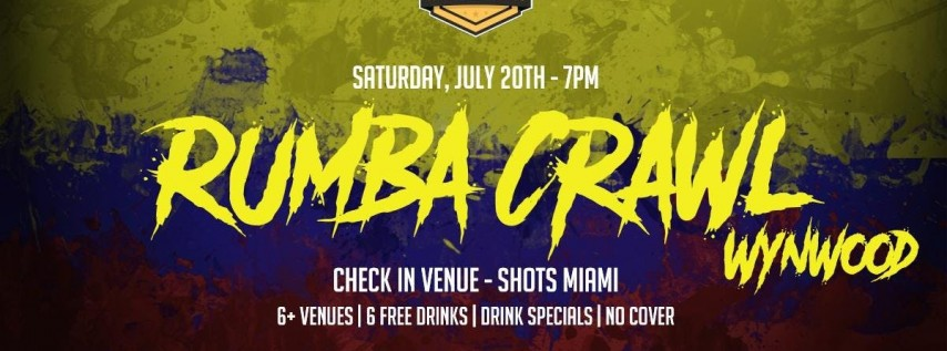 Rumba Bar Crawl Wynwood - Colombian Independence Day