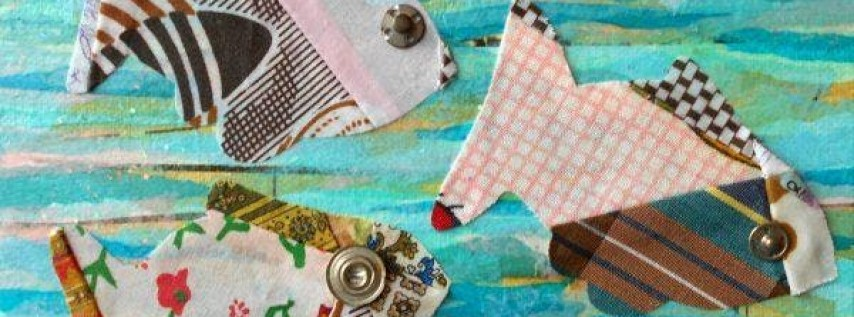Mixed Media Art: Pieced Fish