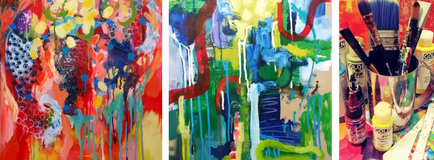 Abstract Painting Adventure with Color