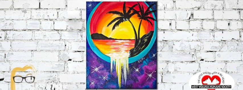 Out of this Galaxy Sunset - Lauren's Art Club - Benefits West Volusia Humane Society