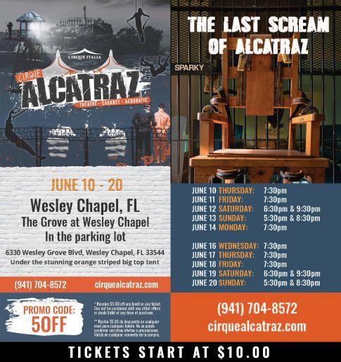 Cirque Alcatraz Wesley Chapel, FL