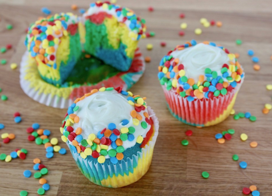 Rainbow Cupcakes Class (Ages 2-8 w/ Caregiver)