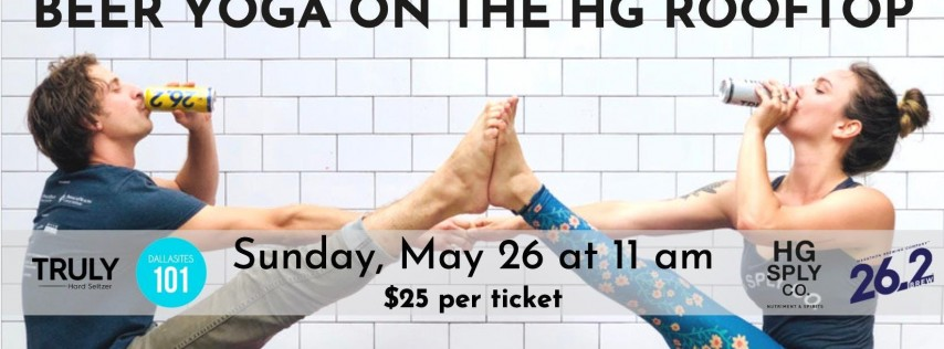 Beer Yoga on the HG Rooftop