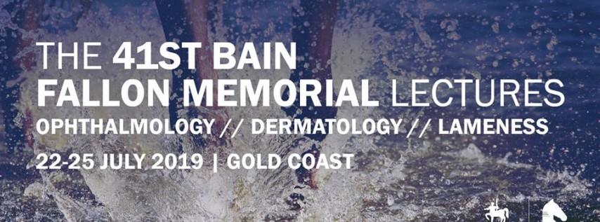 The 2019 Bain Fallon Memorial Lectures