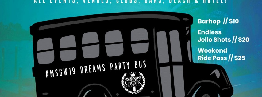 #MSGW19 PARTY BUS
