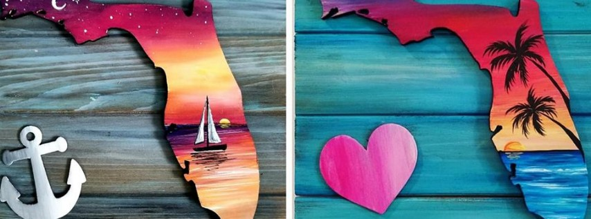 Florida Square Pallet Paint Night