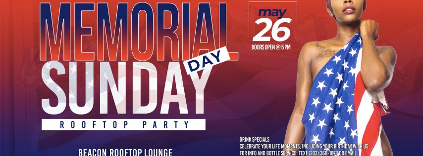 Memorial Day 'SUNDAY' Rooftop Party