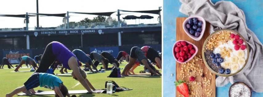 Yoga on the Diamond + Brunch & Baseball!