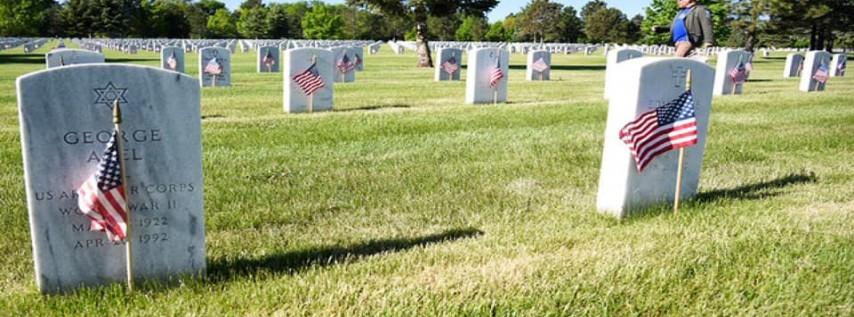 Fort Logan National Cemetery Flags for Memorial Day by JCR