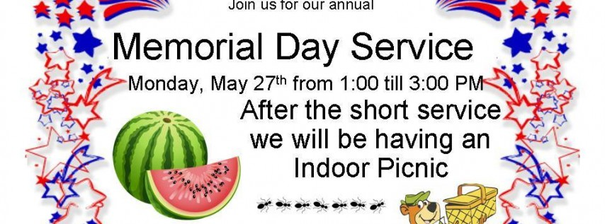 Memorial Day Service and Indoor Picnic