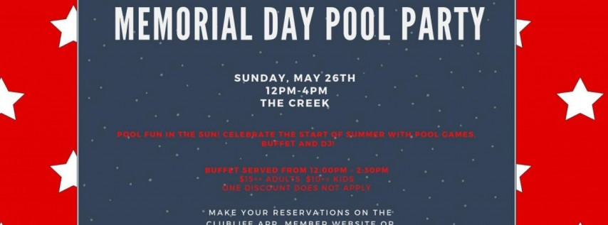 Memorial Day Pool Party | The Creek