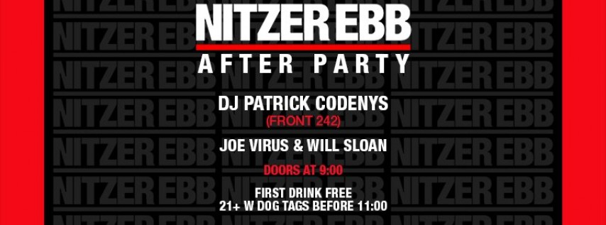 Nitzer Ebb After Party (Memorial Day Weekend)