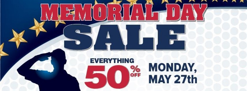 Memorial Day Sale, 50% OFF Everything