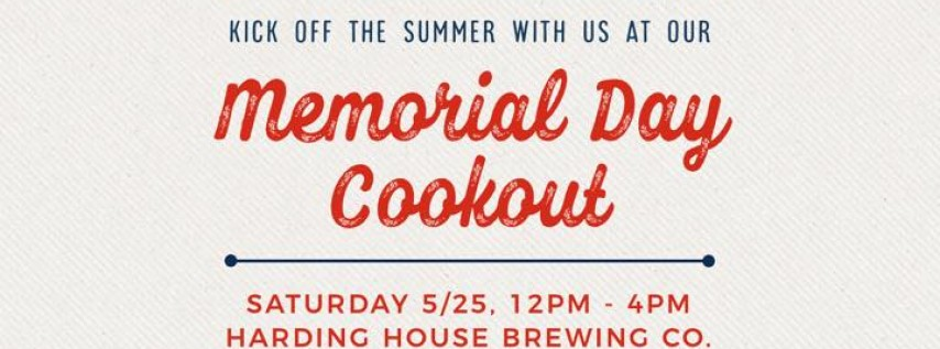 Memorial Day Cookout at Harding House Brewing Co.