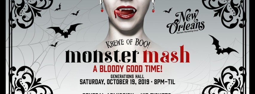 Krewe of Boo! presents MONSTER MASH (Official Parade After-Party)