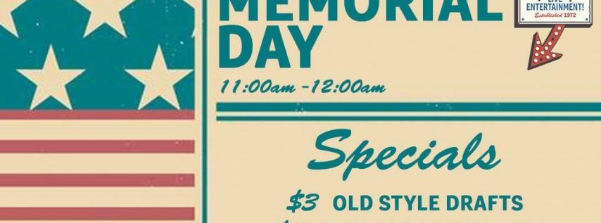 OPEN: Memorial Day