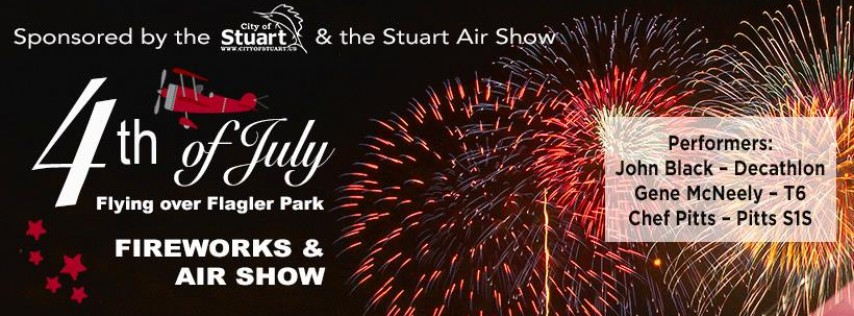 Flying over Flagler Park: 4th of July in Stuart!