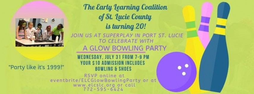 ELC Glow Bowling Birthday Party