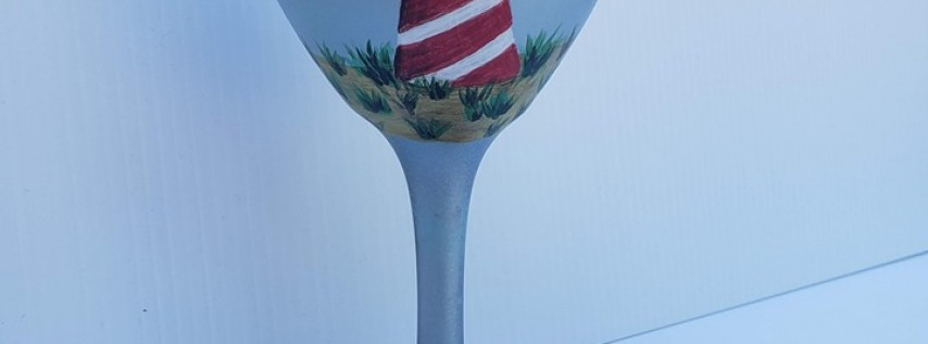 Fathers Day Lighthouse on a Glass