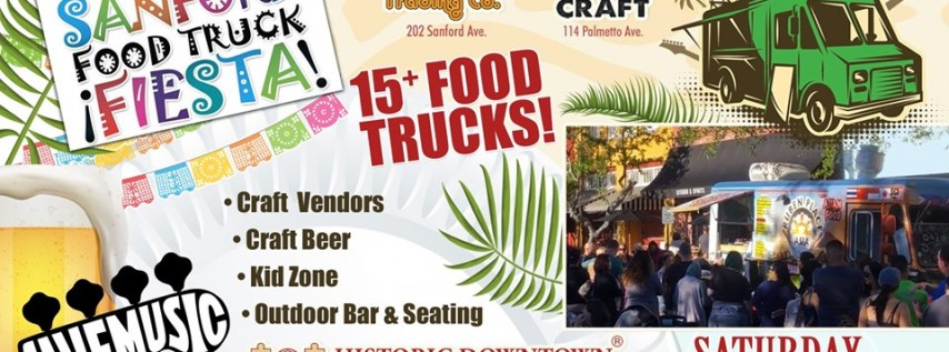 Sanford Food Truck Fiesta featuring Live Music, Craft Beer