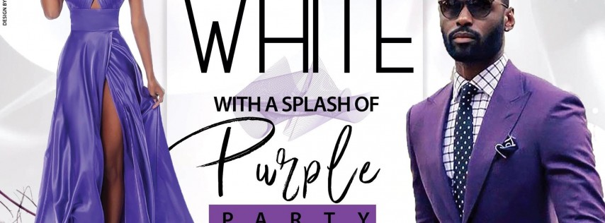 White With A Splash Of PURPLE Party