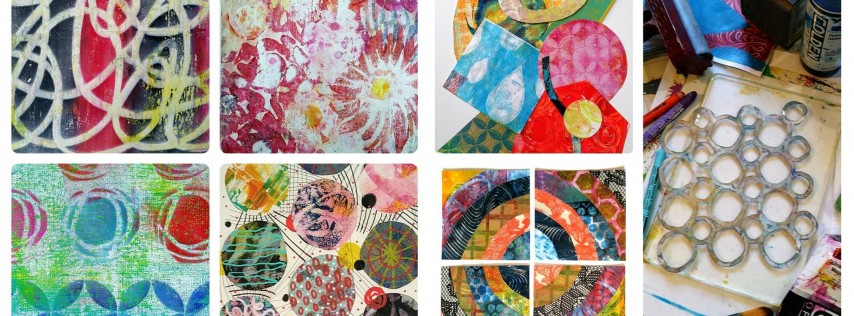 Collage Explorations with Gel Prints