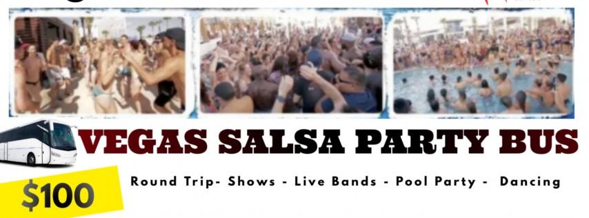 Las Vegas Salsa Party Bus: Pool Party, Live Bands, Shows $100