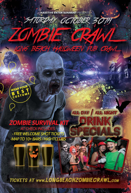 Long Beach Zombie Crawl - Halloween Pub Crawl