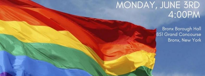 The Bronx LGBTQ Pride Flag Raising
