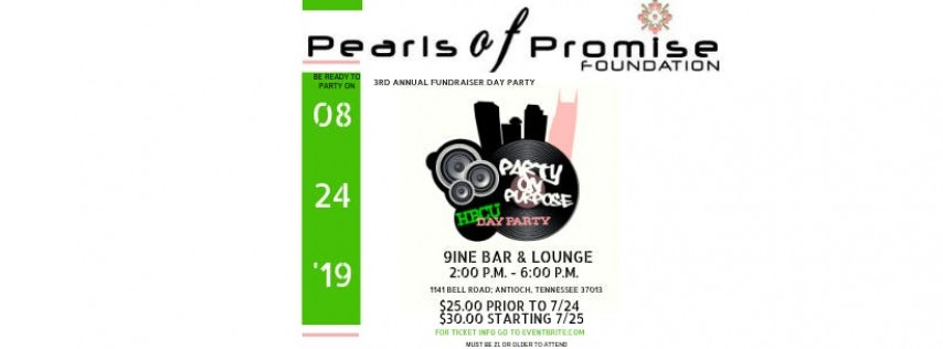 3rd Annual Fundraiser Day Party - Party on Purpose
