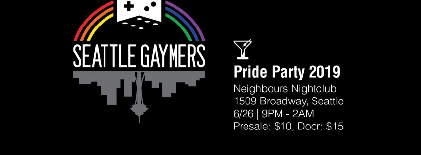 Seattle Gaymers Pride Party 2019